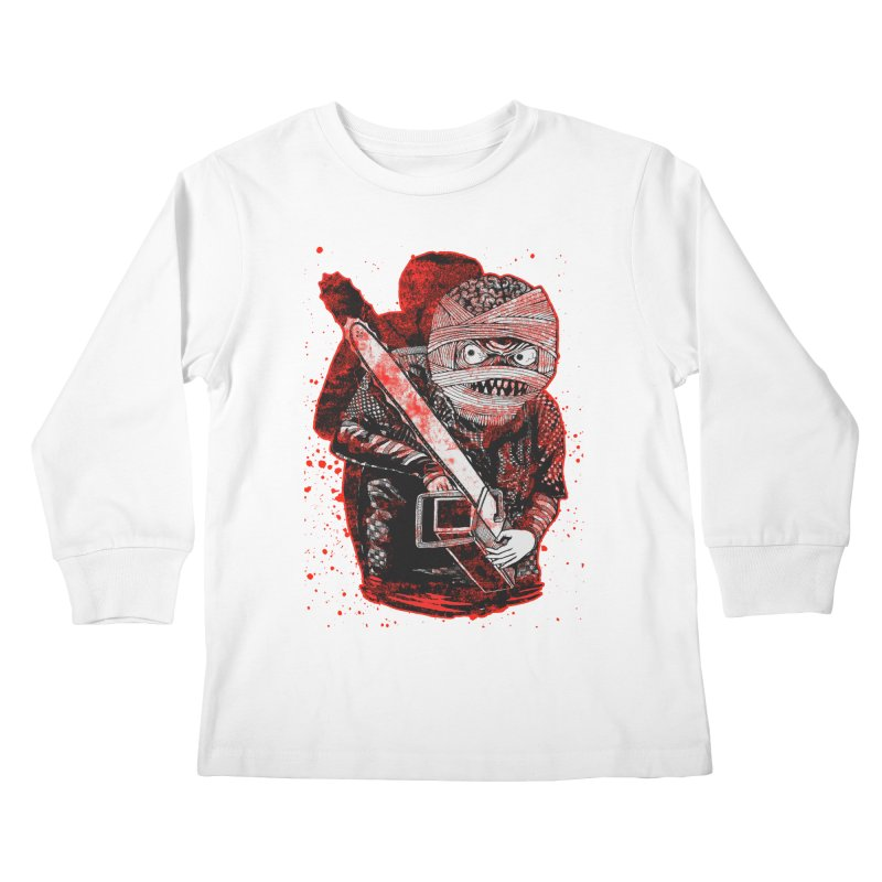 Chainsaw Mummy Kids Longsleeve T-Shirt by miskel's Shop