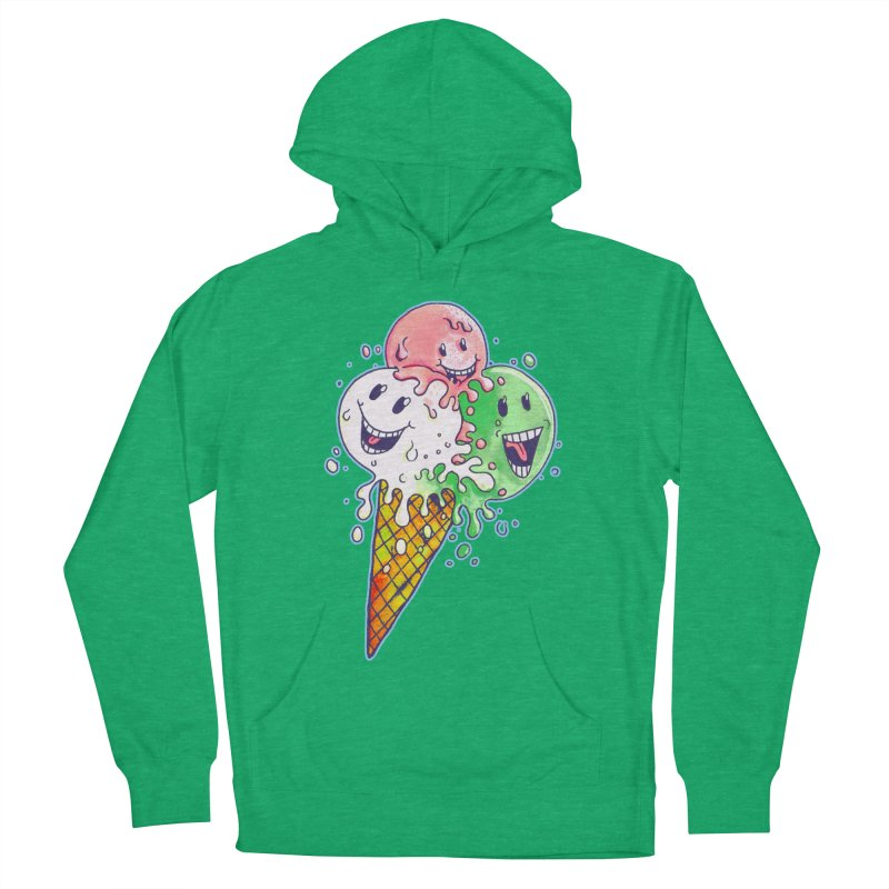 Ice Cream Tee Women's French Terry Pullover Hoody by miskel's Shop