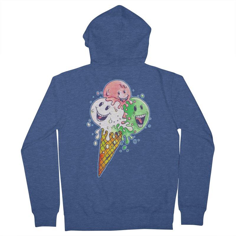 Ice Cream Tee Women's Zip-Up Hoody by miskel's Shop