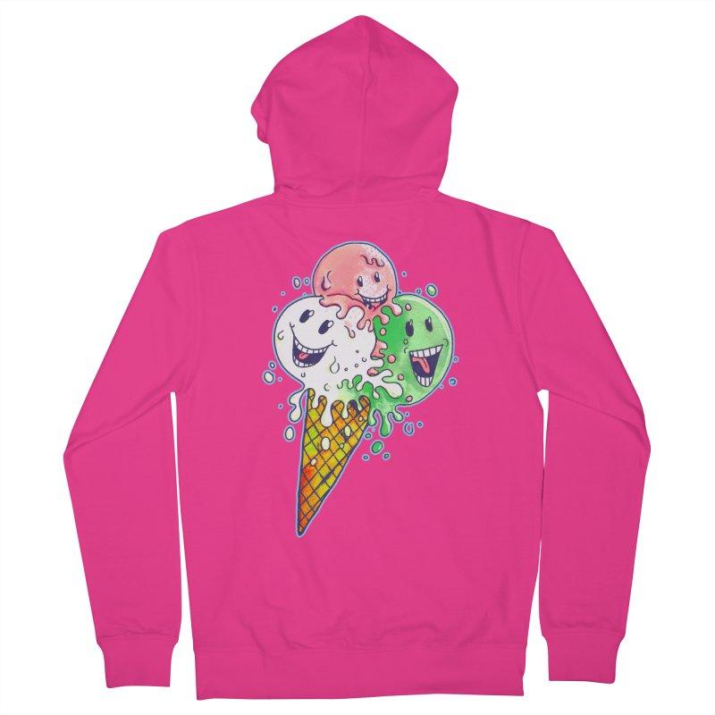 Ice Cream Tee Men's Zip-Up Hoody by miskel's Shop