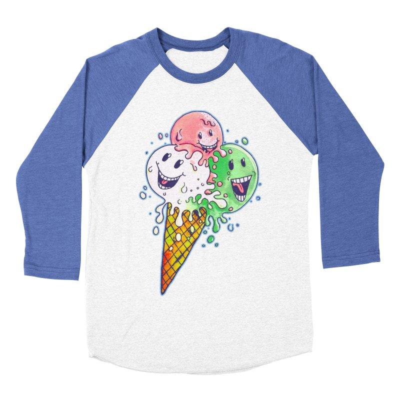 Ice Cream Tee Women's Baseball Triblend T-Shirt by miskel's Shop