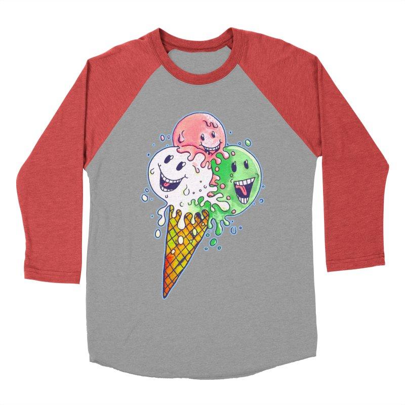 Ice Cream Tee Women's Baseball Triblend Longsleeve T-Shirt by miskel's Shop