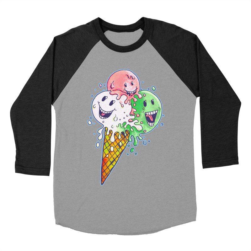 Ice Cream Tee Women's Baseball Triblend Longsleeve T-Shirt by miskel's Shop