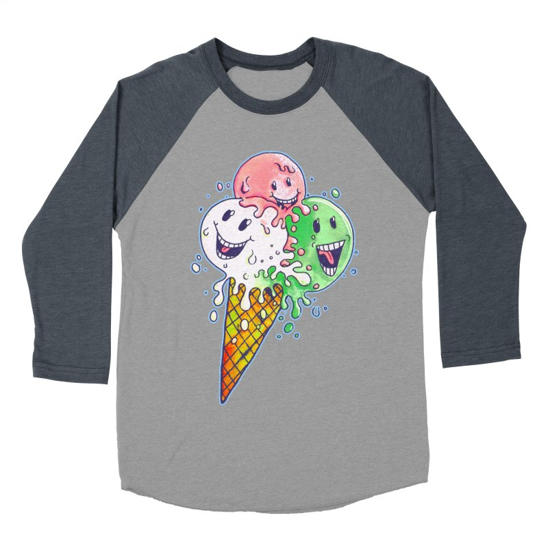 Ice Cream Tee Women's Baseball Triblend T-Shirt by miskel's Shop