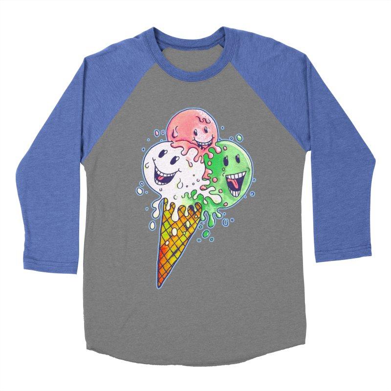 Ice Cream Tee Men's Baseball Triblend Longsleeve T-Shirt by miskel's Shop