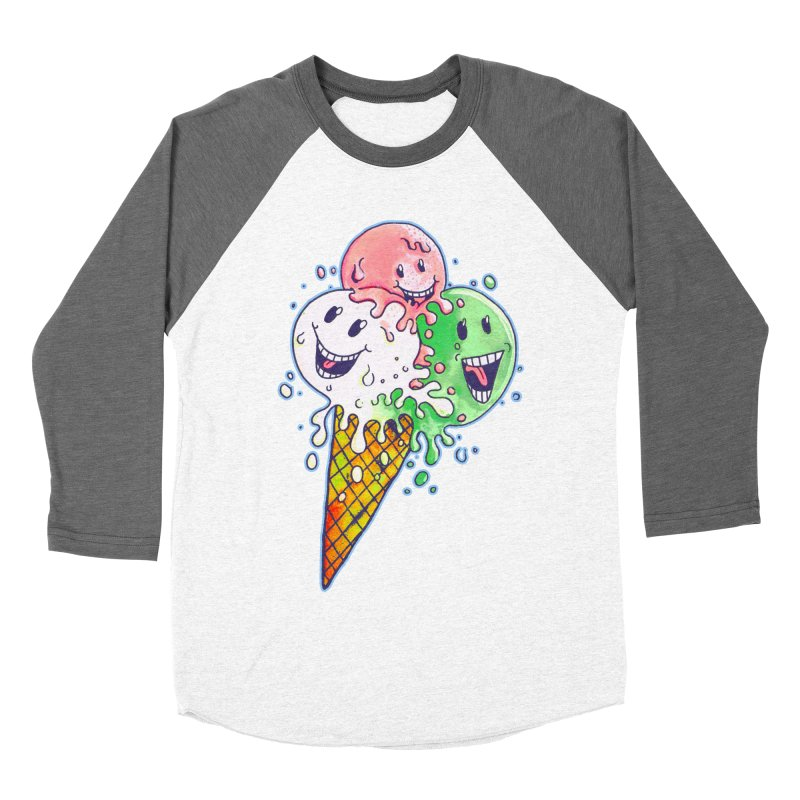 Ice Cream Tee Men's Baseball Triblend T-Shirt by miskel's Shop