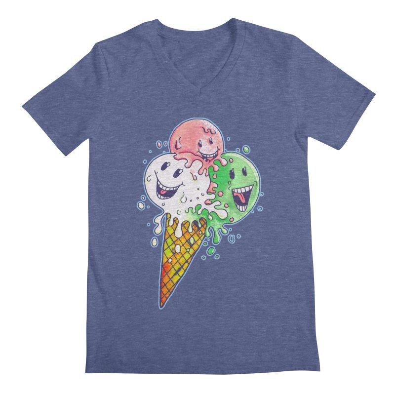Ice Cream Tee Men's V-Neck by miskel's Shop