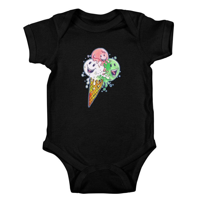 Ice Cream Tee Kids Baby Bodysuit by miskel's Shop