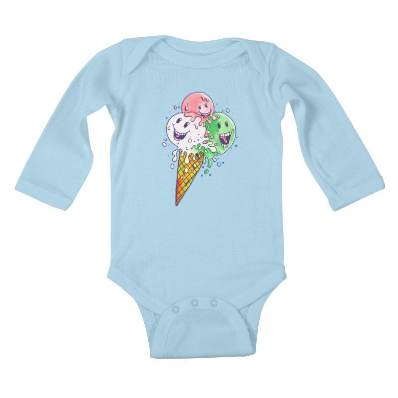 Ice Cream Tee Kids Baby Longsleeve Bodysuit by miskel's Shop