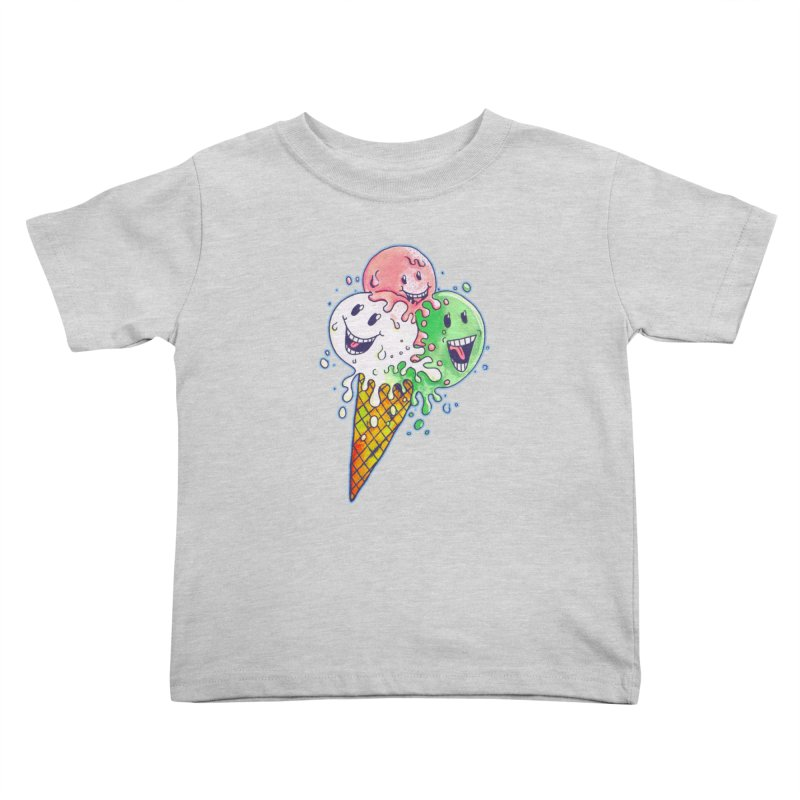 Ice Cream Tee Kids Toddler T-Shirt by miskel's Shop
