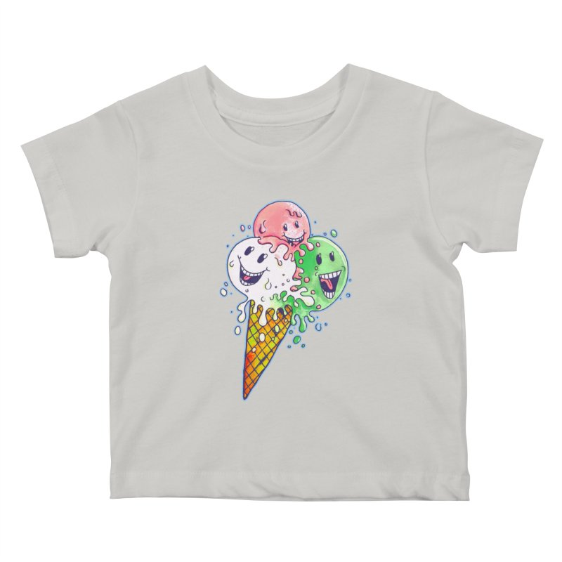 Ice Cream Tee Kids Baby T-Shirt by miskel's Shop