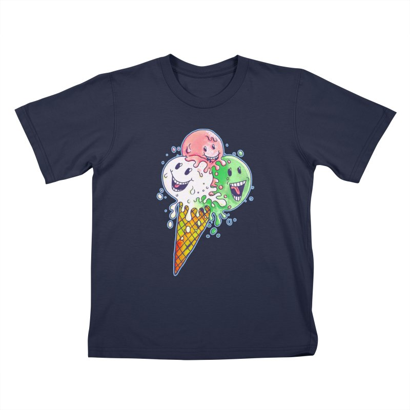 Ice Cream Tee Kids T-Shirt by miskel's Shop