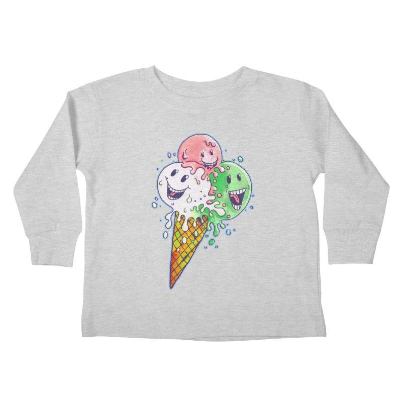 Ice Cream Tee Kids Toddler Longsleeve T-Shirt by miskel's Shop
