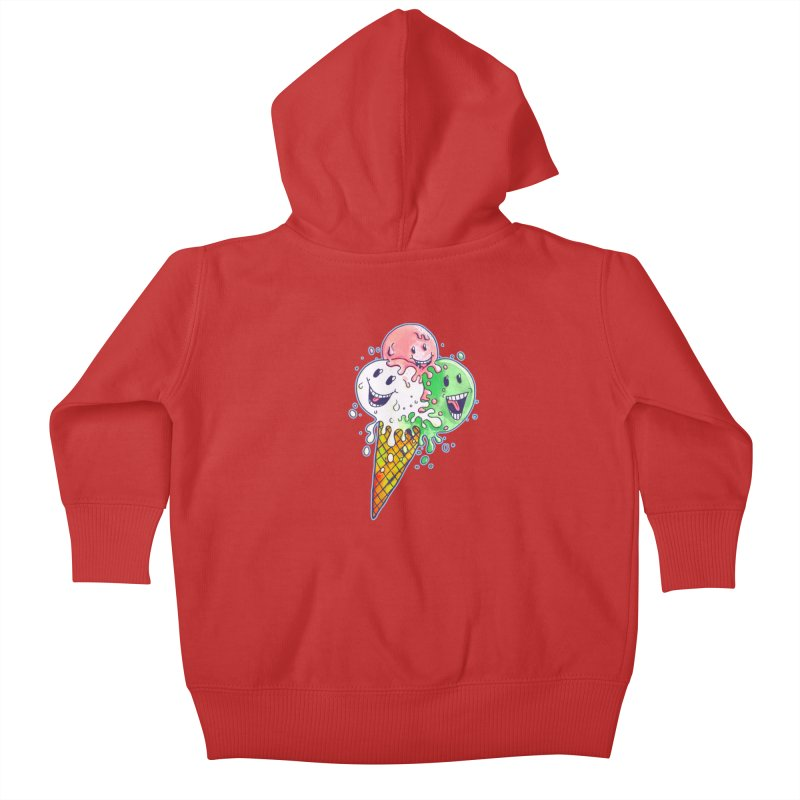Ice Cream Tee Kids Baby Zip-Up Hoody by miskel's Shop