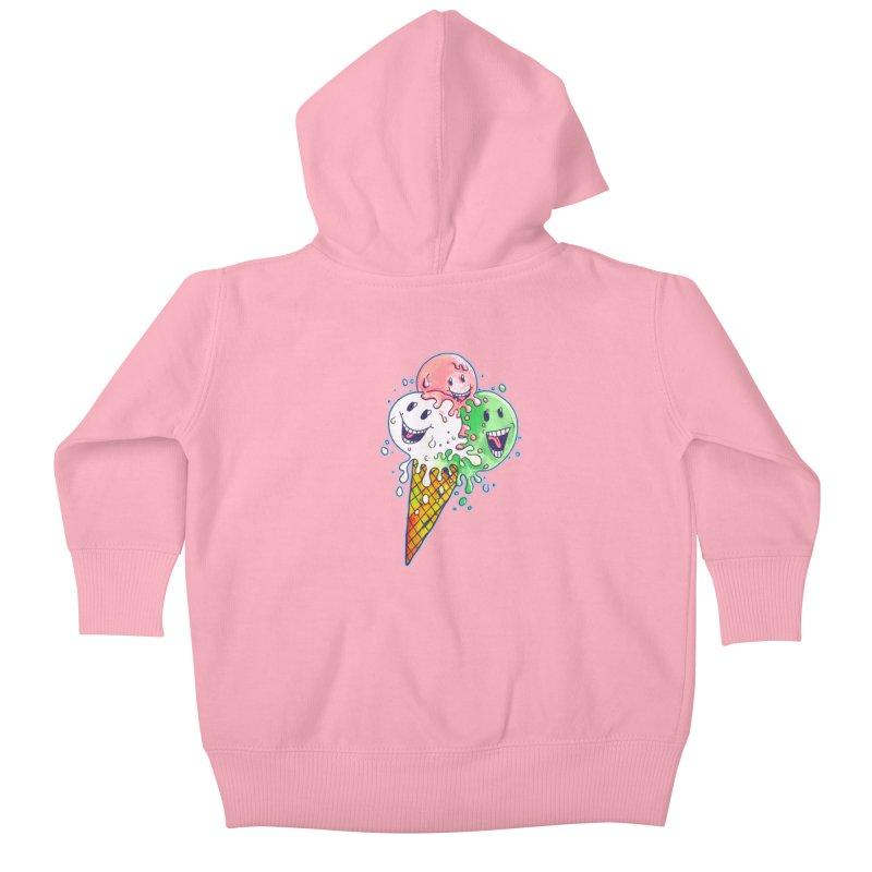 Ice Cream Tee Kids Baby Zip-Up Hoody by miskel's Shop