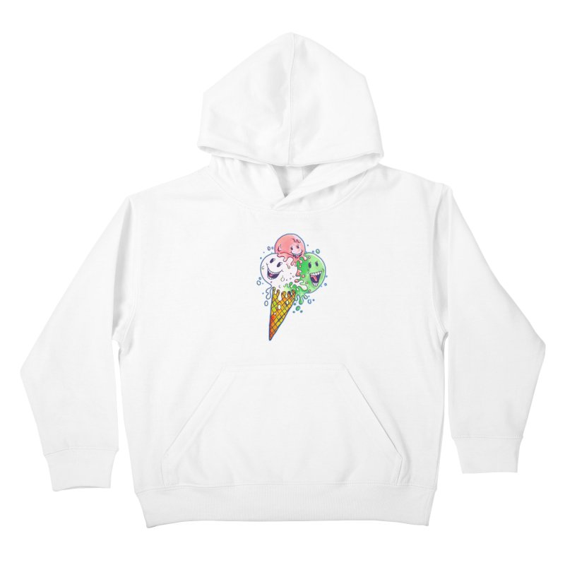 Ice Cream Tee Kids Pullover Hoody by miskel's Shop