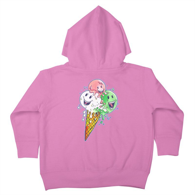 Ice Cream Tee Kids Toddler Zip-Up Hoody by miskel's Shop