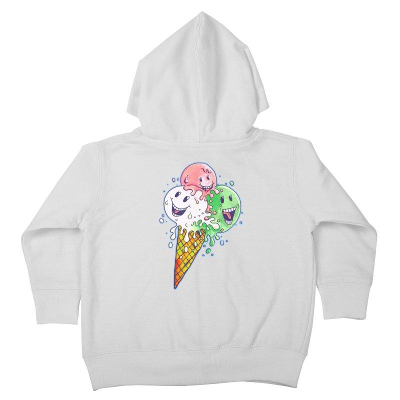 Ice Cream Tee Kids Toddler Zip-Up Hoody by miskel's Shop