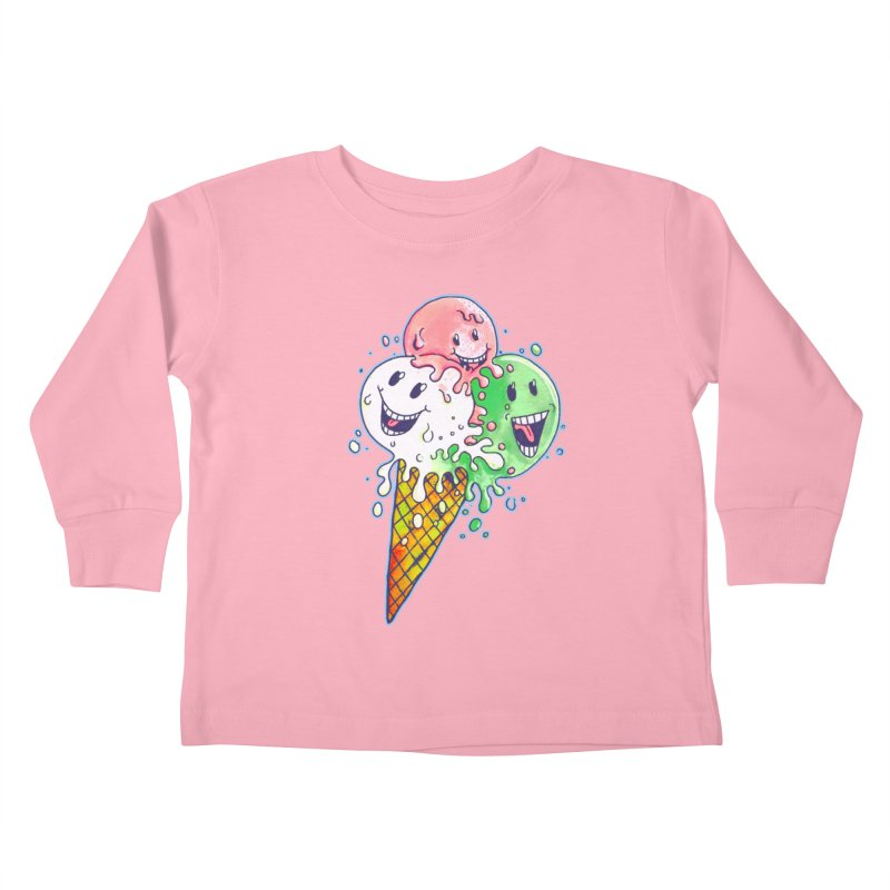 Ice Cream Tee Kids Toddler Longsleeve T-Shirt by miskel's Shop