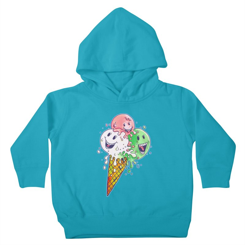 Ice Cream Tee Kids Toddler Pullover Hoody by miskel's Shop