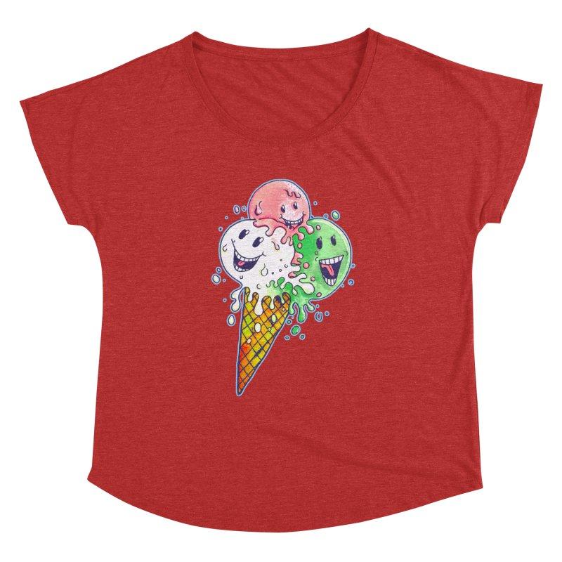 Ice Cream Tee Women's Dolman by miskel's Shop