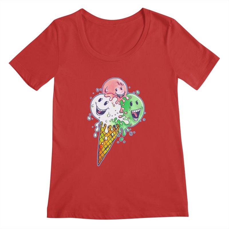 Ice Cream Tee Women's Regular Scoop Neck by miskel's Shop