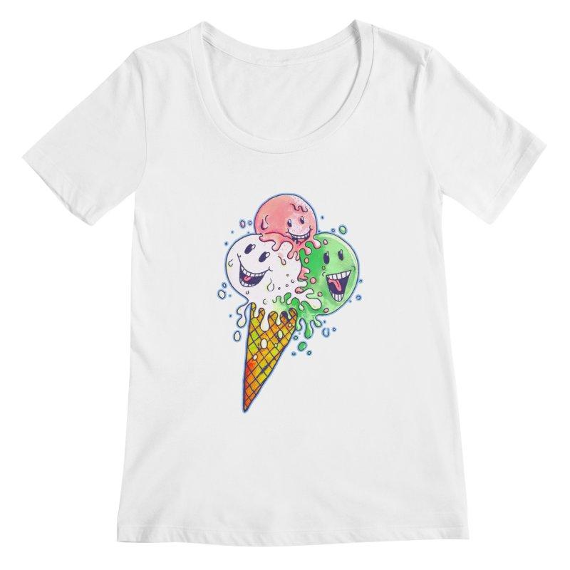 Ice Cream Tee Women's Scoopneck by miskel's Shop