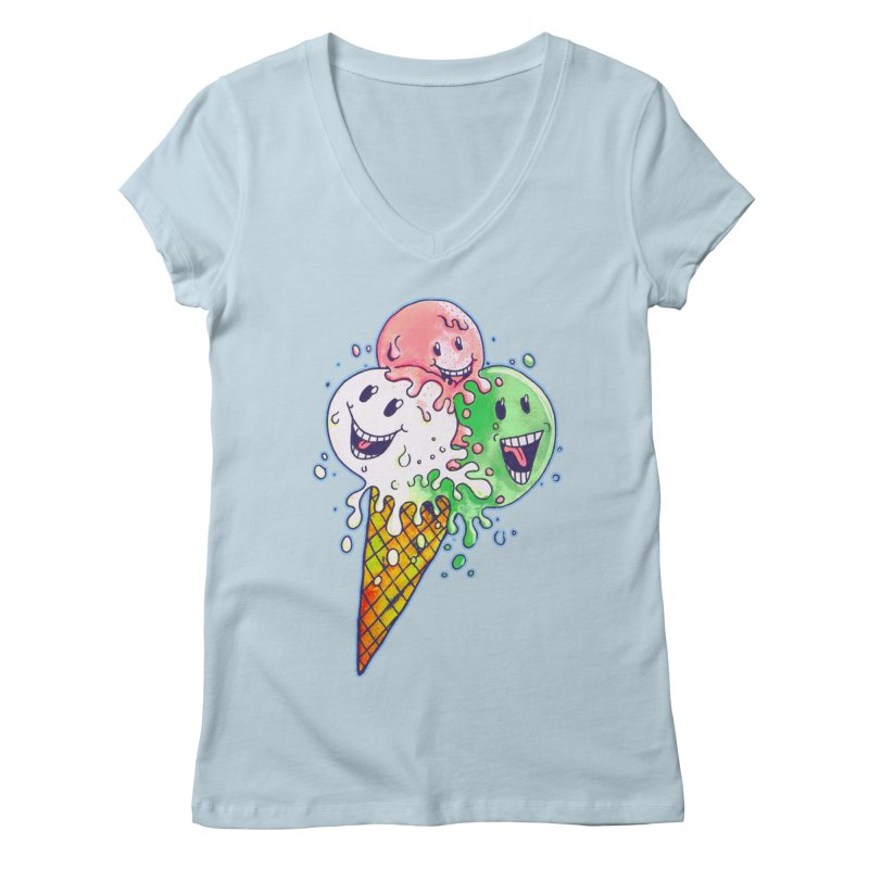 Ice Cream Tee Women's Regular V-Neck by miskel's Shop