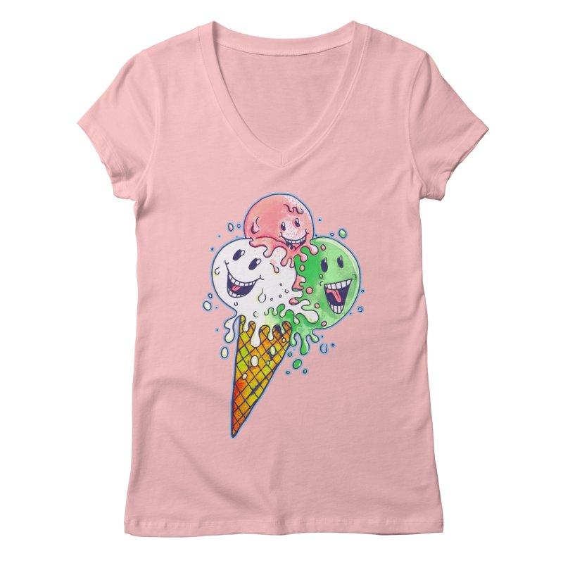 Ice Cream Tee Women's V-Neck by miskel's Shop