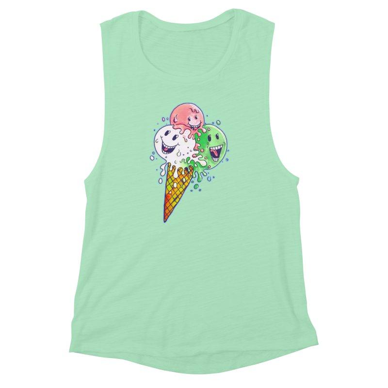 Ice Cream Tee Women's Muscle Tank by miskel's Shop