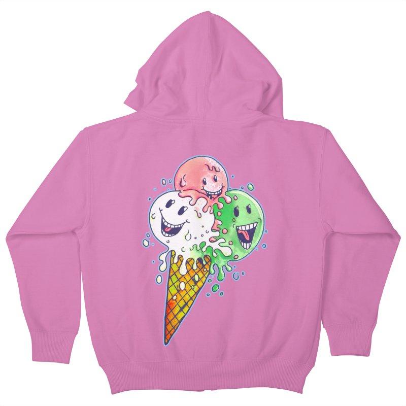 Ice Cream Tee Kids Zip-Up Hoody by miskel's Shop