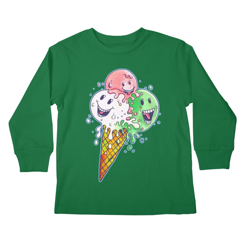 Ice Cream Tee Kids Longsleeve T-Shirt by miskel's Shop
