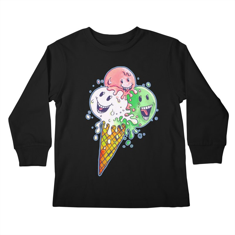 Ice Cream Tee Kids Longsleeve T-Shirt by miskel's Shop