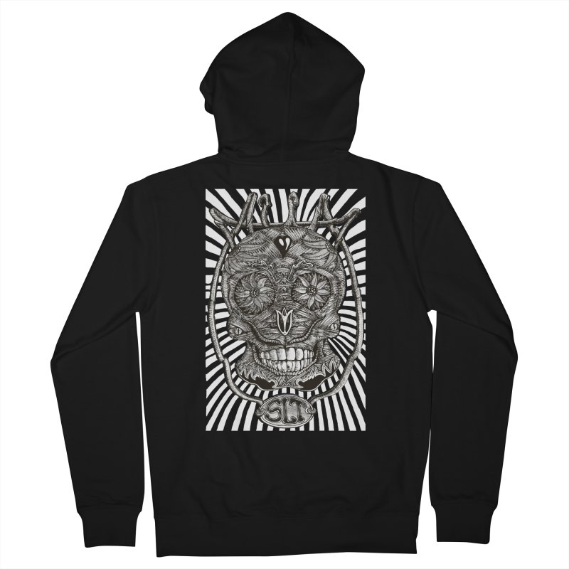 Skull MuM Classic  Women's French Terry Zip-Up Hoody by miskel's Shop