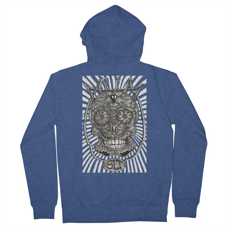 Skull MuM Classic  Men's French Terry Zip-Up Hoody by miskel's Shop