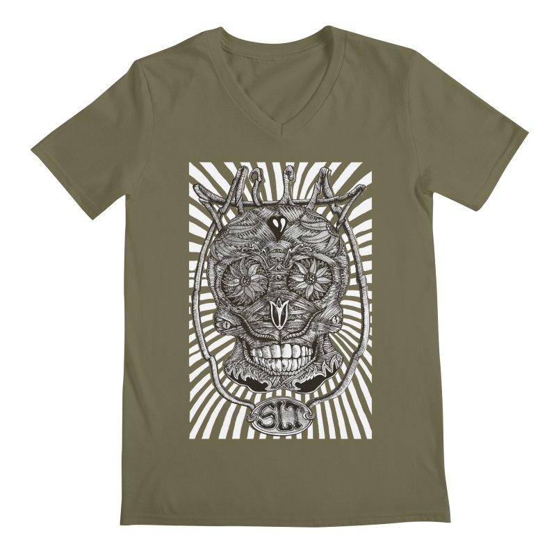 Skull MuM Classic  Men's Regular V-Neck by miskel's Shop