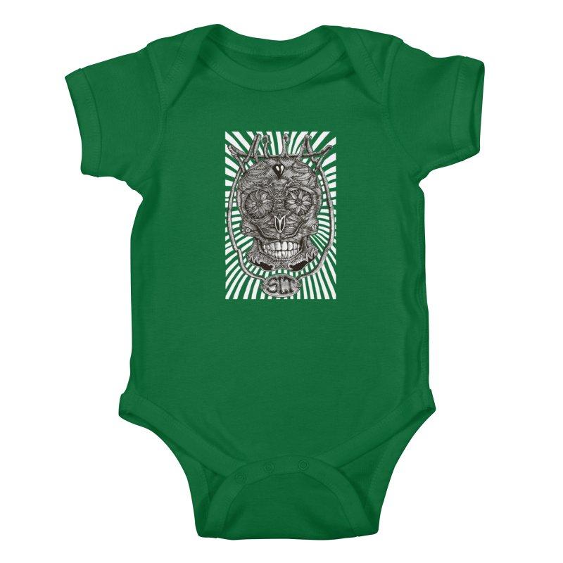 Skull MuM Classic  Kids Baby Bodysuit by miskel's Shop