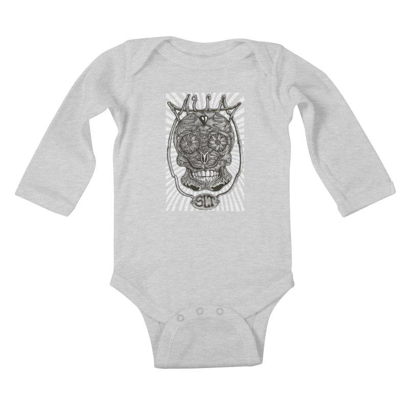 Skull MuM Classic  Kids Baby Longsleeve Bodysuit by miskel's Shop