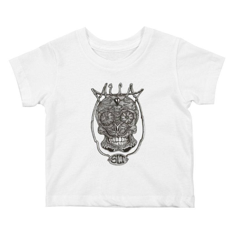 Skull MuM Classic  Kids Baby T-Shirt by miskel's Shop