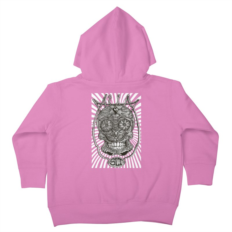 Skull MuM Classic  Kids Toddler Zip-Up Hoody by miskel's Shop