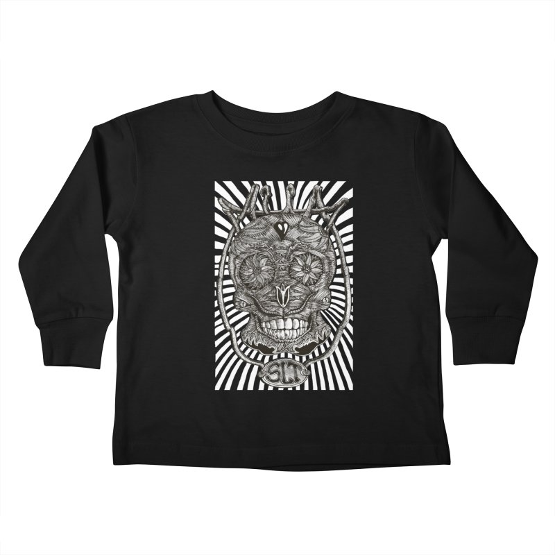 Skull MuM Classic  Kids Toddler Longsleeve T-Shirt by miskel's Shop