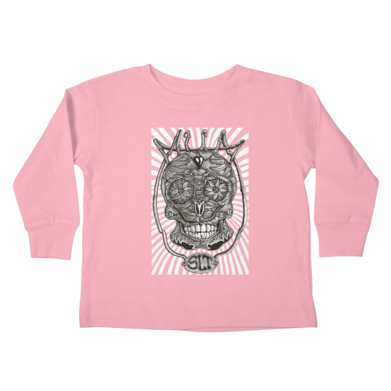 Skull MuM Classic  Kids Toddler Longsleeve T-Shirt by miskel's Shop