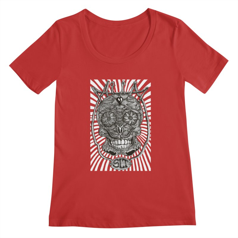 Skull MuM Classic  Women's Regular Scoop Neck by miskel's Shop