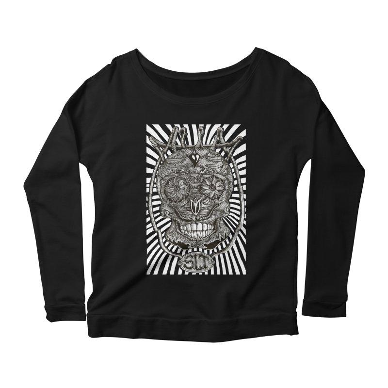 Skull MuM Classic  Women's Scoop Neck Longsleeve T-Shirt by miskel's Shop