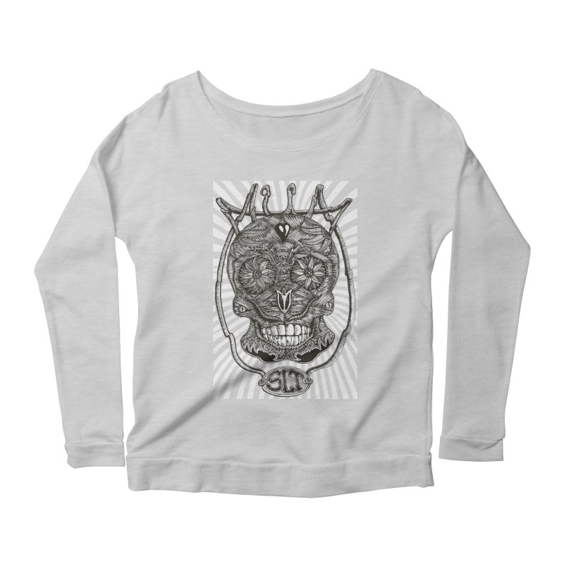 Skull MuM Classic  Women's Scoop Neck Longsleeve T-Shirt by miskel's Shop