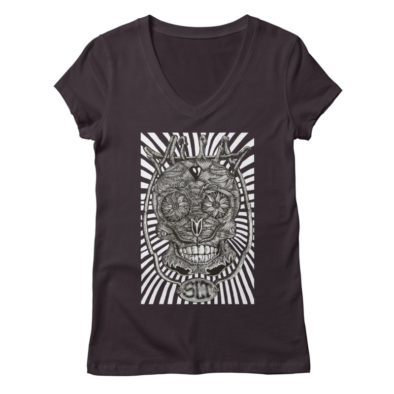 Skull MuM Classic  Women's Regular V-Neck by miskel's Shop