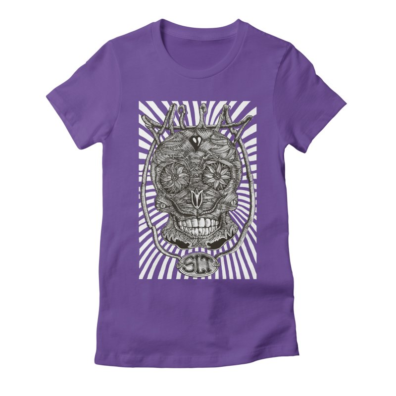 Skull MuM Classic  Women's Fitted T-Shirt by miskel's Shop