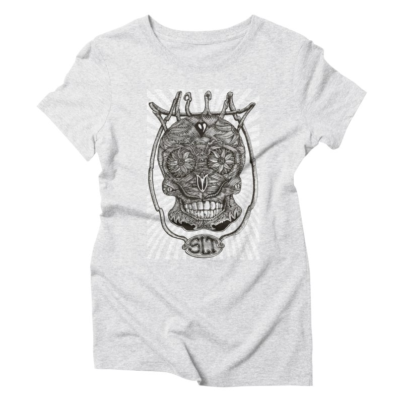 Skull MuM Classic  Women's Triblend T-Shirt by miskel's Shop