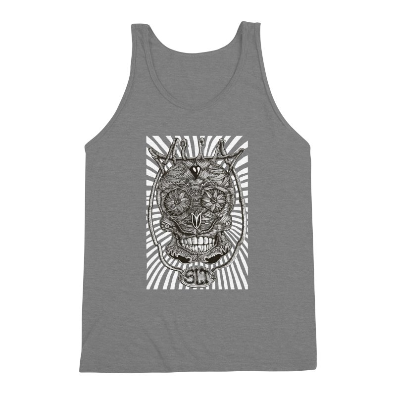 Skull MuM Classic  Men's Triblend Tank by miskel's Shop