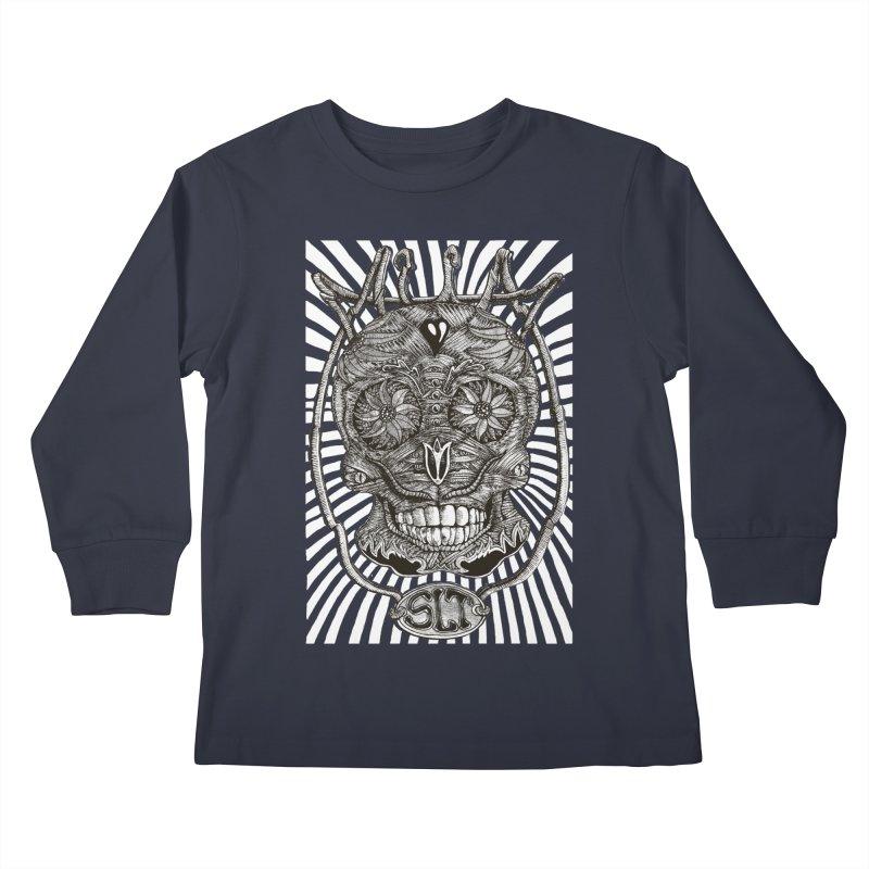 Skull MuM Classic  Kids Longsleeve T-Shirt by miskel's Shop